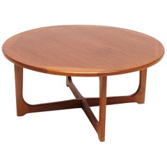 Mid-Century Modern Teak Wood Coffee Table, 1970s