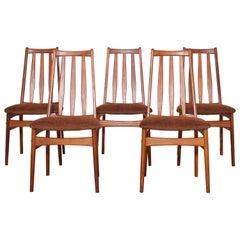 Mid-Century Modern Teak Wood Dining Chairs