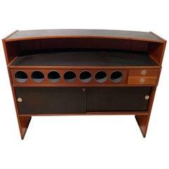 Mid-Century Modern Teak Wood Bar Cabinet by Erik Buch for Dyrlund, Denmark 1960s