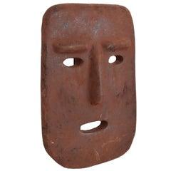 Mid-Century Modern Terracotta Mask Wall Sculpture Sabatini Ponti Style