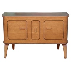 Mid-Century Modern Thaden Jordan Molded Birch Wood Credenza Sideboard