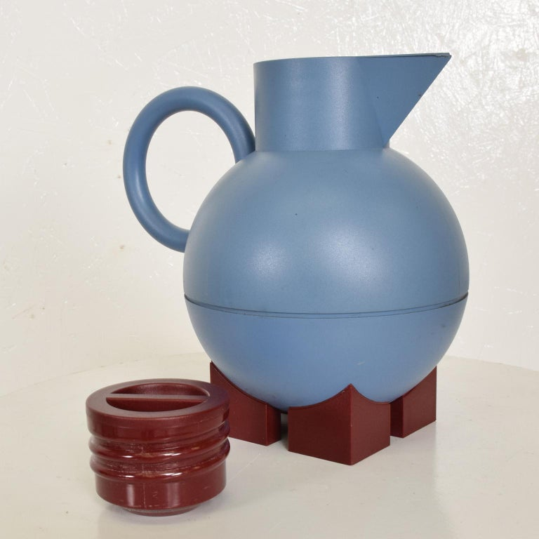 Glass Mid-Century Modern Thermos Carafe Model Euclid by Michael Graves for Alessi For Sale
