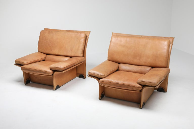 Buffalo leather edition designed by Titiana Ammannati & Giampiero Vitelli in 1976 for Brunati, Italy.