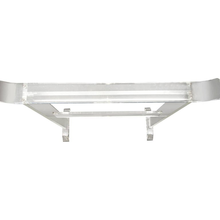 Mid-Century Modern Thick Lucite Towel Rack For Sale 1