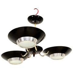 Mid-Century Modern Three-Light Ceiling Fixture