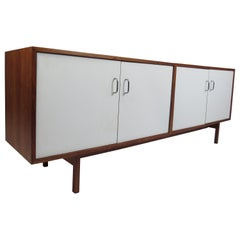 Mid-Century Modern Three-Piece Record Cabinet