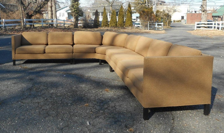 American Mid-Century Modern Three-Piece Sectional Sofa by Dunbar For Sale