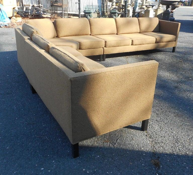 Mid-20th Century Mid-Century Modern Three-Piece Sectional Sofa by Dunbar For Sale