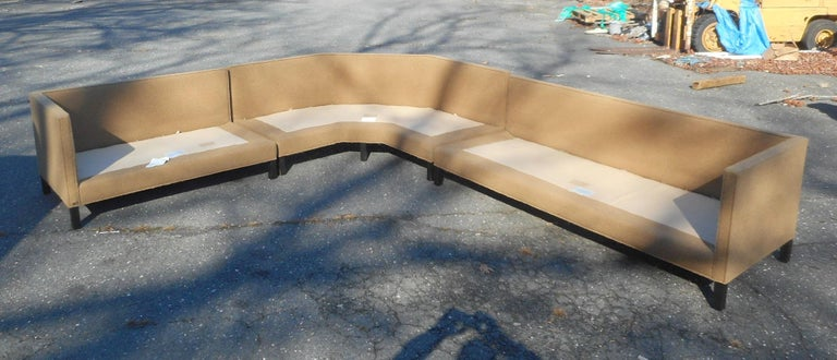 Mid-Century Modern Three-Piece Sectional Sofa by Dunbar For Sale 1
