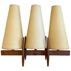 Mid-Century Modern Three Shade Table Lamp by John Keal For Modeline