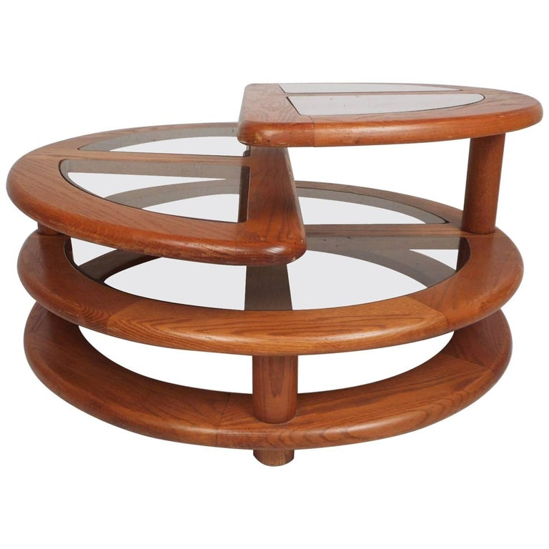 Mid Century Modern Three Tier Expandable Coffee Table For