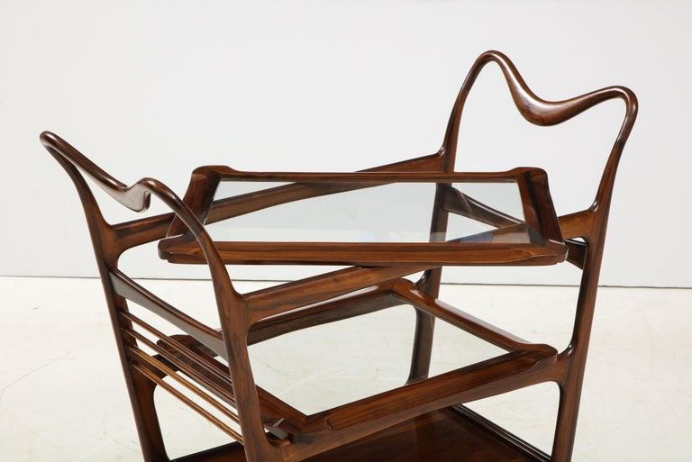 Mid-Century Modern Three-Tier Tea Cart by Teperman Manufacture, Brazil, 1950s For Sale 4