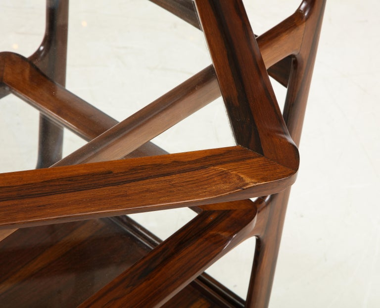 Mid-Century Modern Three-Tier Tea Cart by Teperman Manufacture, Brazil, 1950s For Sale 5