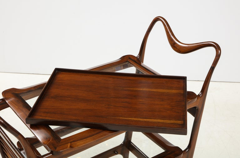 Mid-Century Modern Three-Tier Tea Cart by Teperman Manufacture, Brazil, 1950s For Sale 6
