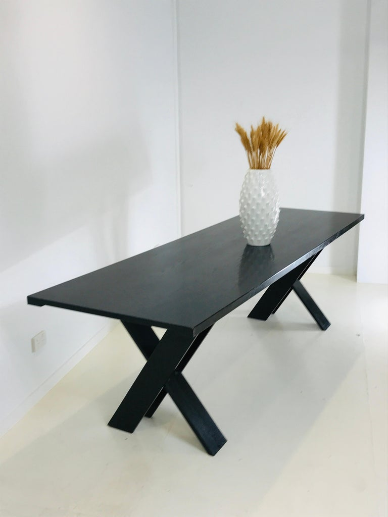 Mid-Century Modern TL 58 Black Dining Table by Marco Zanuso for Poggi, 1974 For Sale 4
