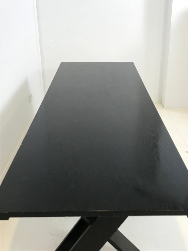 Mid-Century Modern TL 58 Black Dining Table by Marco Zanuso for Poggi, 1974 For Sale 6