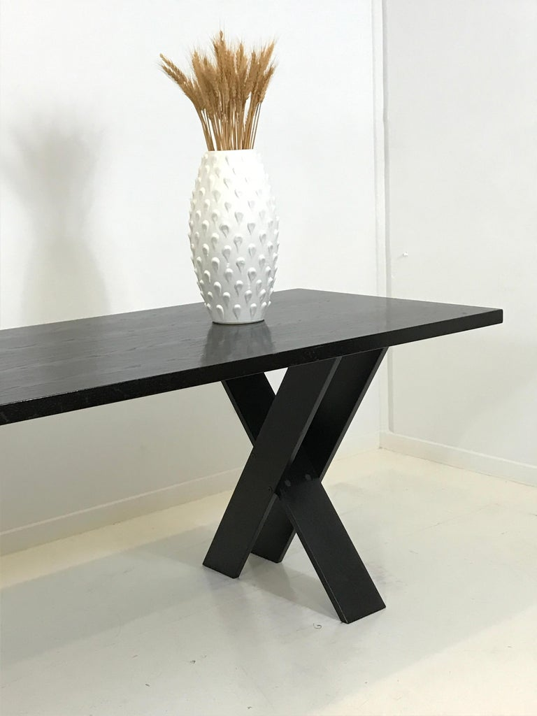 Mid-Century Modern TL 58 Black Dining Table by Marco Zanuso for Poggi, 1974 For Sale 9