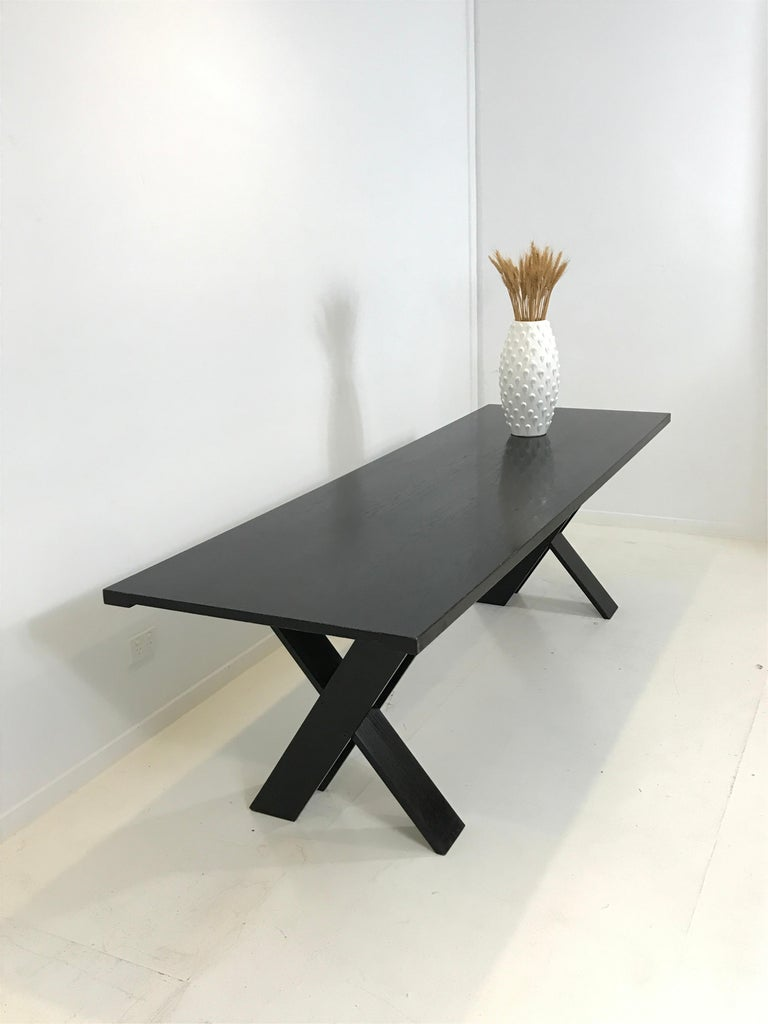Mid-Century Modern TL 58 Black Dining Table by Marco Zanuso for Poggi, 1974 For Sale 11