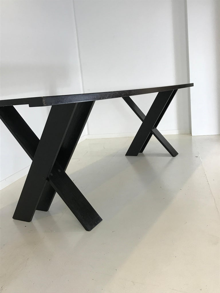 Mid-Century Modern TL 58 Black Dining Table by Marco Zanuso for Poggi, 1974 For Sale 1