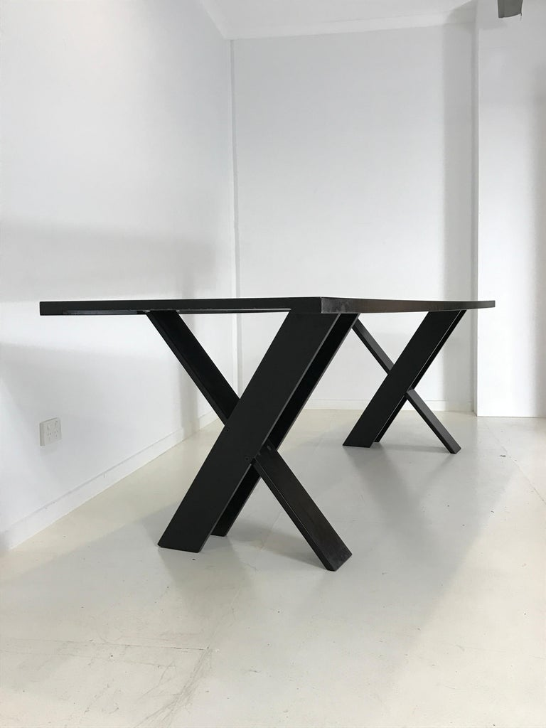 Mid-Century Modern TL 58 Black Dining Table by Marco Zanuso for Poggi, 1974 For Sale 2