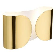 "Mid-Century Modern Tobia Scarpa Model ""Foglio"" Made of Brass Italian Sconces"
