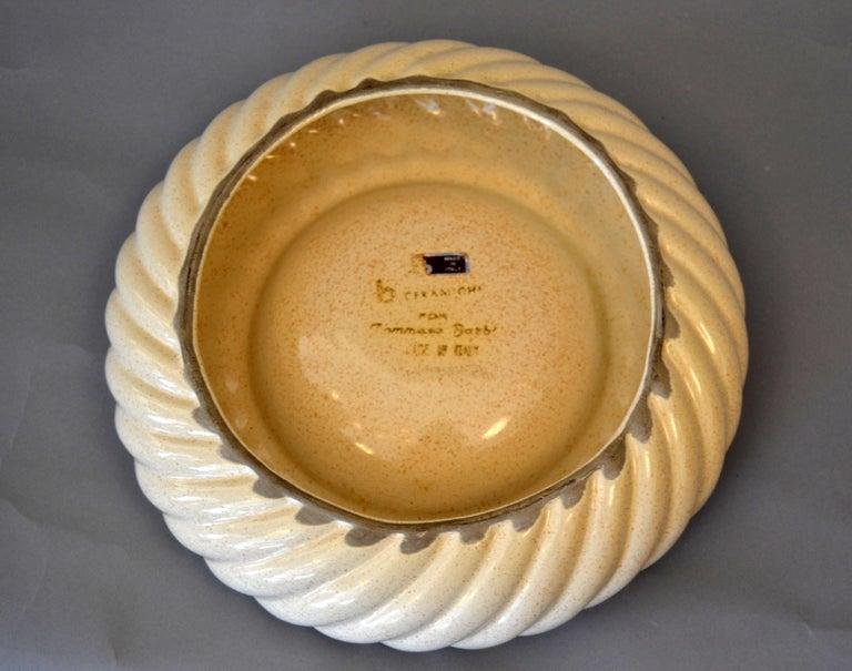 Mid-Century Modern Tommaso Barbi Ceramic & Chrome Ashtray, Decorative Bowl Italy For Sale 4