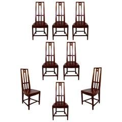 Mid-Century Modern Traditional Set of 8 Side Cranbrook Dining Chairs Saarinen