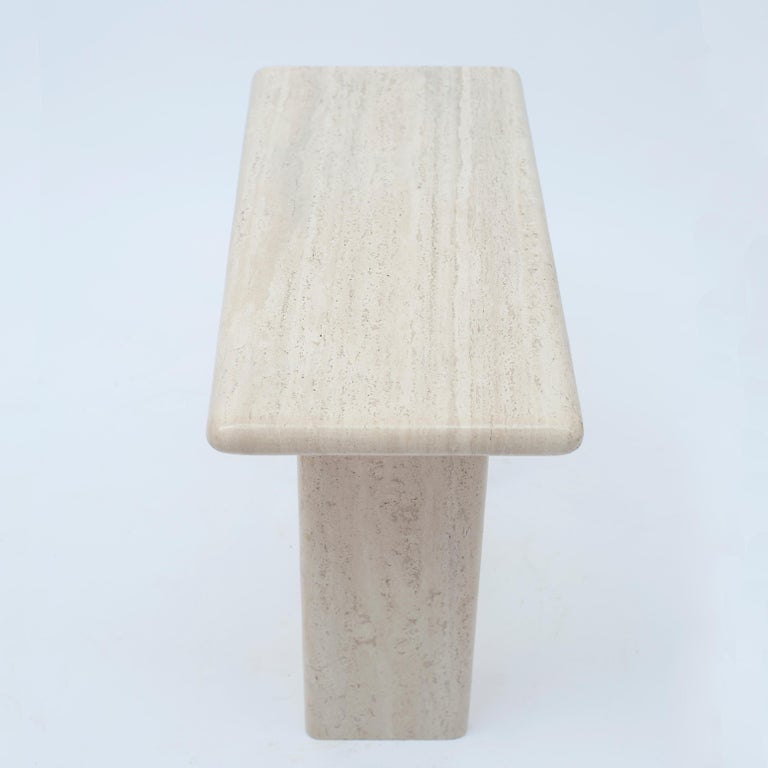 Mid-Century Modern Travertine Console/Side Table, 1970s For Sale 1
