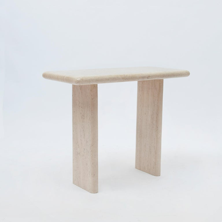 Mid-Century Modern Travertine Console/Side Table, 1970s For Sale 4