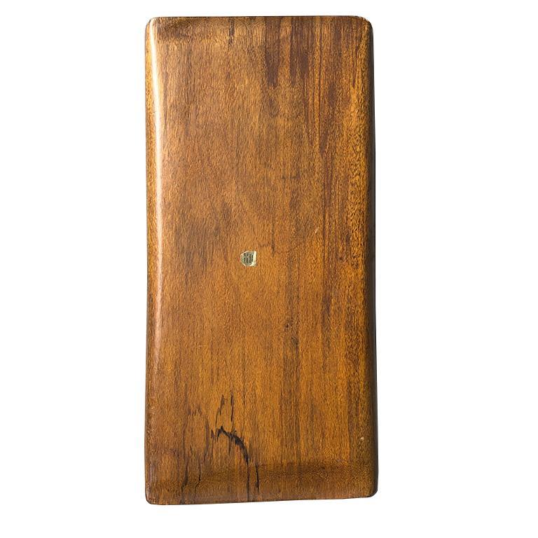 Haitian Mid-Century Modern Table Bar Tray Wood Look by Auld Haiti  For Sale
