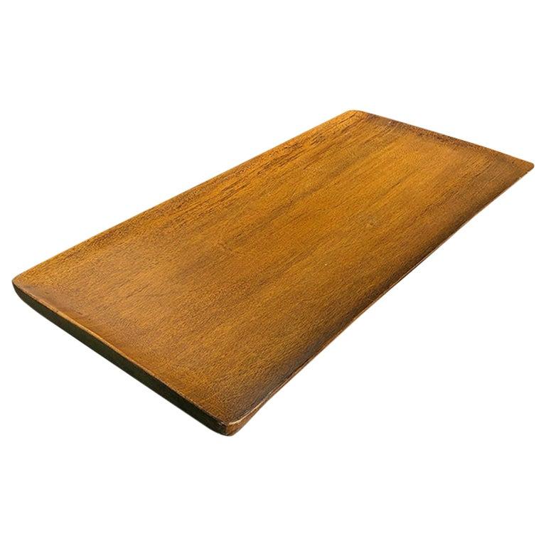 Mid-Century Modern Table Bar Tray Wood Look by Auld Haiti  For Sale