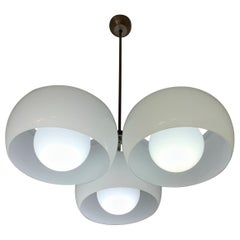 """Mid-Century Modern """"TriClinio"""" Chandelier by Vico Magistretti for Artemide"""