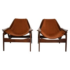 Mid-Century Modern Triumph I Sling Chairs by Jerry Johnson for Charlton a Pair