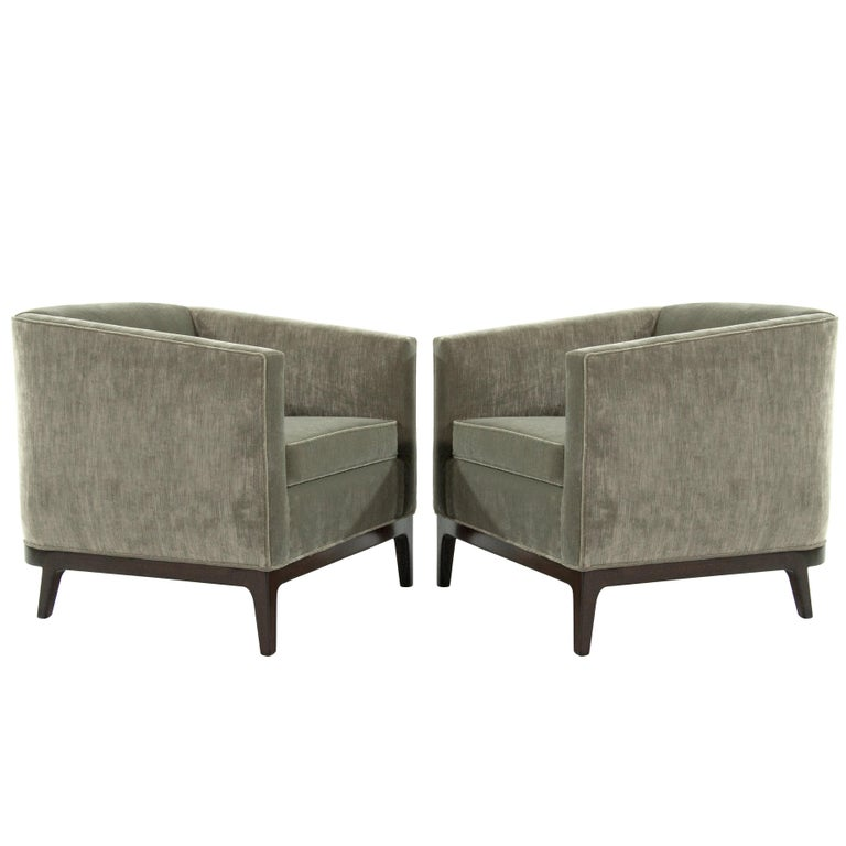 Awe Inspiring Mid Century Modern Tub Chairs In Chenille Ibusinesslaw Wood Chair Design Ideas Ibusinesslaworg