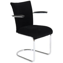 Mid-Century Modern Tubular Steel Armchair by Toon De Wit for Gebroeders De Wit
