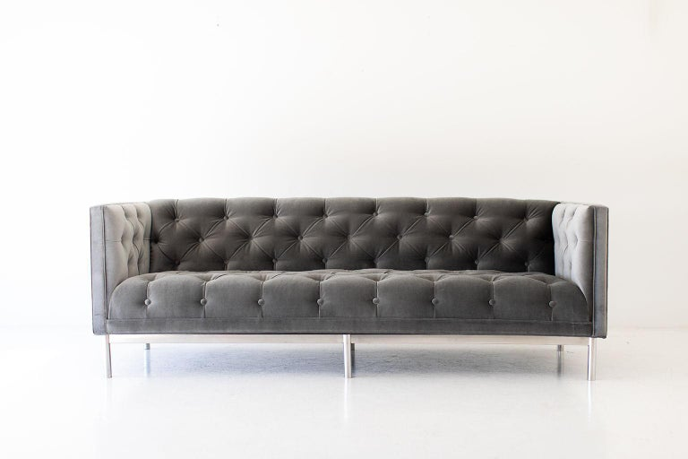 Mid-Century Modern Tufted Sofa For Sale 6