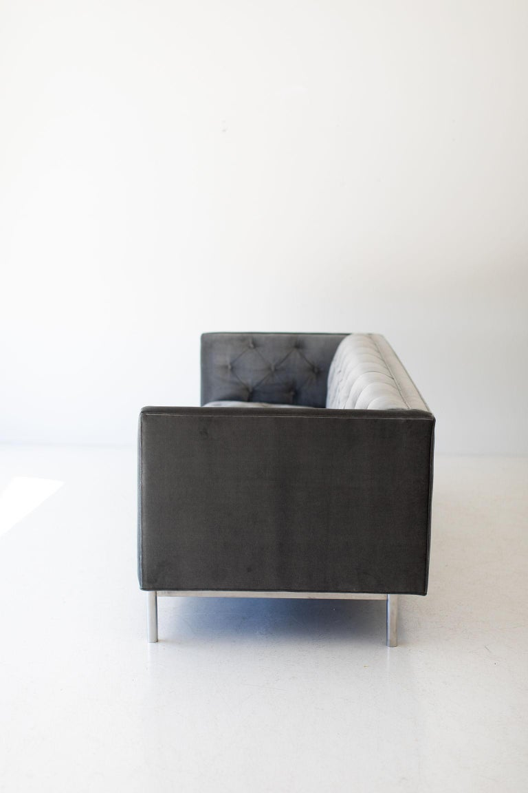 North American Mid-Century Modern Tufted Sofa For Sale