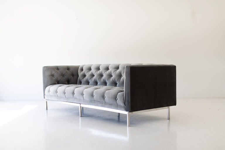 Mid-20th Century Mid-Century Modern Tufted Sofa For Sale