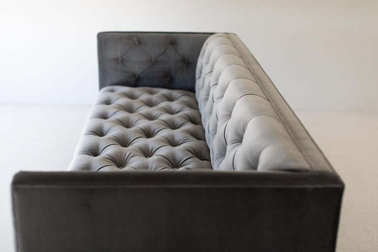 Mid-Century Modern Tufted Sofa For Sale 2