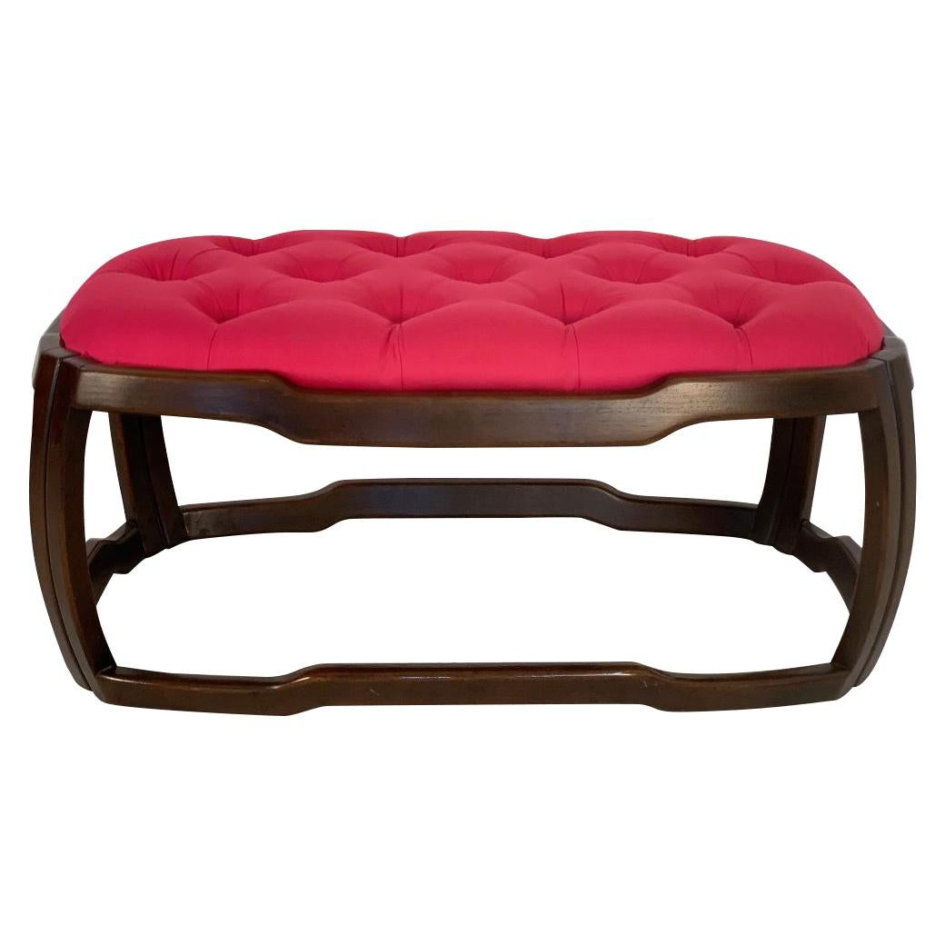Mid-Century Modern Tufted Upholstered Bench