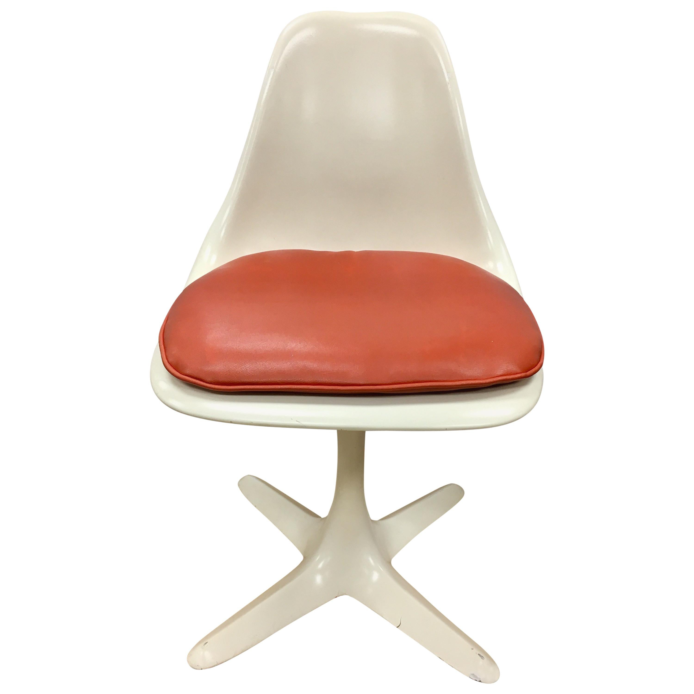 Mid-Century Modern Tulip Dining Chairs Saarinen Style Burke, USA 1970s Set Eight