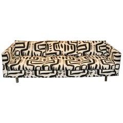 Modern Tuxedo Sofa in Custom Made Fabric
