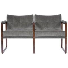 Mid-Century Modern Two-Seat Loveseat