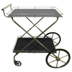 Mid-Century Modern Two-Tier Bar Cart