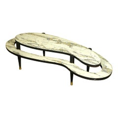 Mid-Century Modern Two-Tier Biomorphic Coffee Table