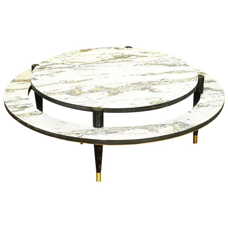 Mid-Century Modern Two-Tier Coffee Table For Sale