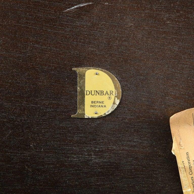 Mid-Century Modern Two-Tier Ebonized Walnut Side Table Signed Dunbar 5