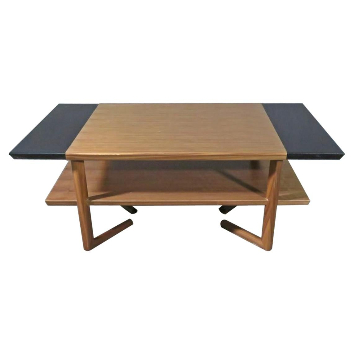 Mid-Century Modern Two-Tiered Coffee Table