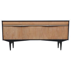 Mid-Century Modern Two-Tone Clean Lined Credenza or Sideboard with Three Drawers