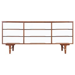 Mid-Century Modern Two-Tone Lacquered and Walnut Dresser